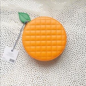 Tartan + Twine Orange Shaped Clutch